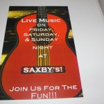 Saxby's Poster